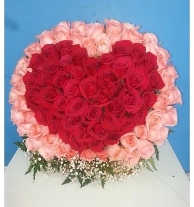 Corazon en rosas