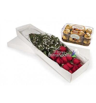 Rosas y chocolote