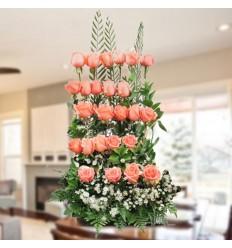 Jardinera de rosas